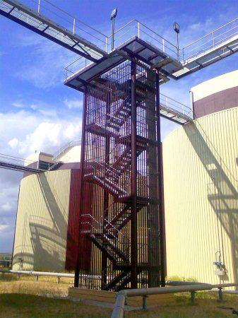 DEYI03 - Estructuras metálicas - Torre Acceso Digestión - EDAR Cuenca Baja Arroyo Culebro II)